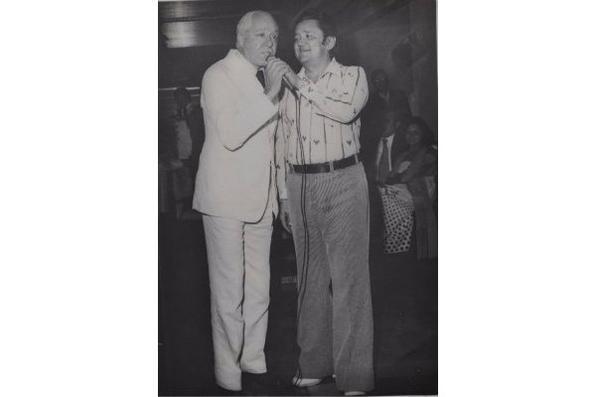 Expedito Baracho e Silvio Caldas - 1977. - Reprodução: Julio Jacobina/DA/D.A Press
