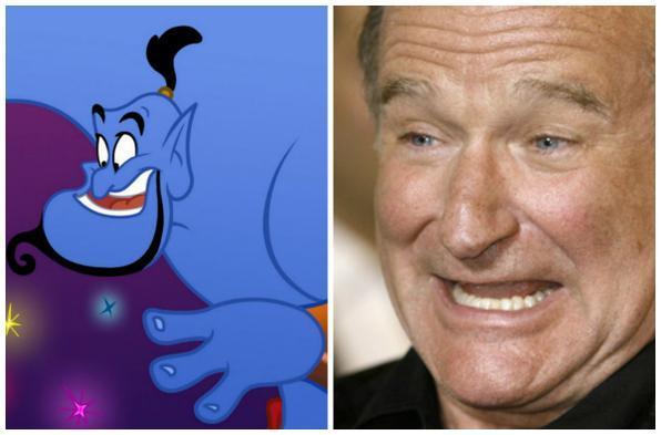 Os produtores de Aladdin criaram o Gênio da Lâmpada para Robin Williams. O personagem foi construído com base no desempenho real do comediante americano. Assim que Robin viu o resultado, aceitou o papel. Dizem que ele riu bastante.  - Montagem/DP