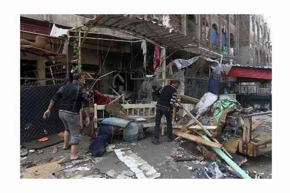 Um carro-bomba matou nesta quinta-feira 30 pessoas e feriu outras 40 em um mercado lotado em uma cidade ao nordeste de Bagdá, anunciaram fontes policiais e médicas. Foto: Ahmad Al-Rubaye/AFP Photo -