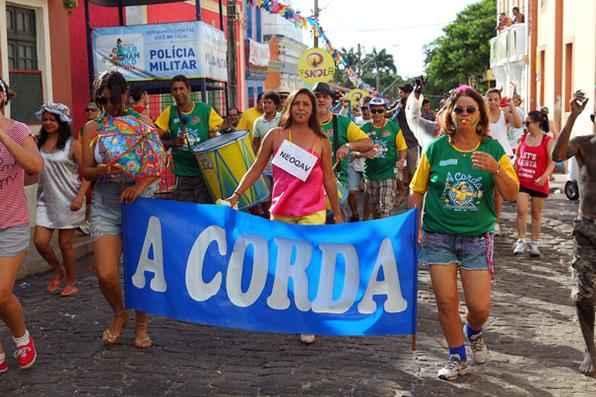 Bloco A corda, em Olinda, no último dia de Carnaval. Credito: Paulo Paiva/DP/D.A Press - Paulo Paiva/DP/D.A Press