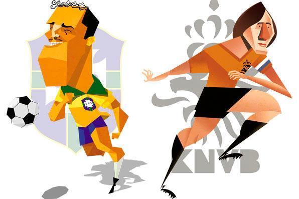 Ademi de Menezes e Johan Cruy, por Rafael -