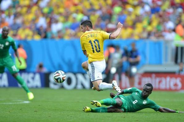 Jogo entre Colômbia e Costa do Marfim no Estádio Nacional de Brasília. Foto: Marcello Casal Jr/ Agência Brasil -