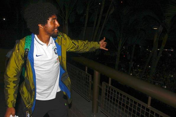 A seleção brasileira de futebol chega a Belo Horizonte, onde enfrentará o Chile no sábado (28/06). Foto: Rafael Ribeiro/ CBF -