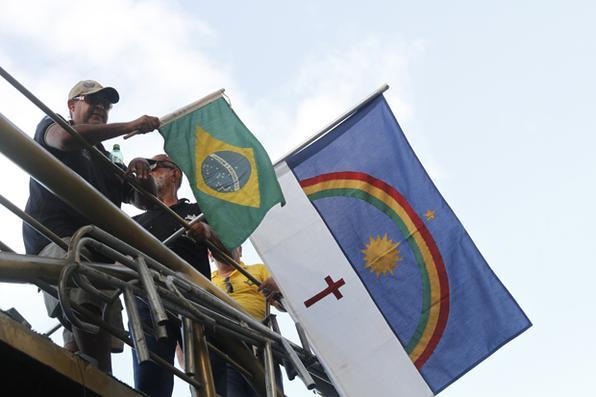 A manifestação aconteceu em Boa Viagem, Zona Sul do Recife. Foto: Ricardo Fernandes/DP/D.A Press -