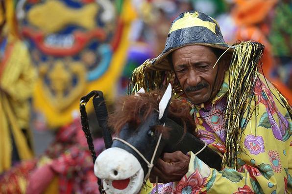 Nazaré da Mata - Desfile dos maracatus. Foto: Teresa Maia/DP -