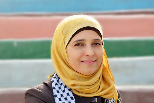 A palestina Hanan Al Hroub venceu o prêmio de melhor professora do mundo. Foto: Global Education and Skills Forum 2016  -