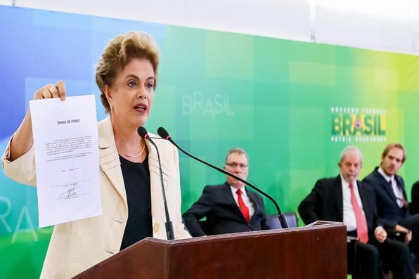 Presidenta Dilma Rousseff durante cerimônia de posse dos novos Ministros de Estado.Foto: Roberto Stuckert Filho/PR -