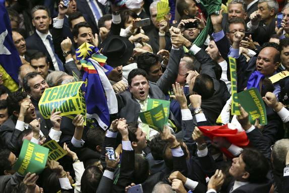 Plen�rio da C�mara aprova processo de impeachment no Senado (Mandato presidencial ser� decidido por 81 senadores.Foto: Marcelo Camargo/Ag�ncia Brasil)