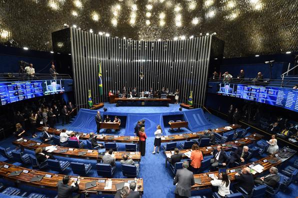 Votação do impeachment da Presidenta Dilma Rousseff no Senado. Foto: Evaristo Sá/AFP -