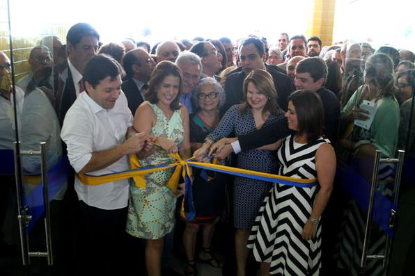 Inauguração do Hospital da Mulher do Recife. Foto: Julio Jacobina/DP -