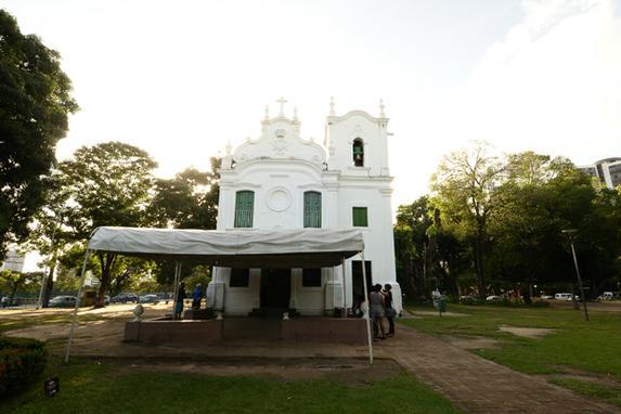 250 anos da Capela do Parque da Jaqueira (A Capela de Nossa Senhora da Concei��o das Barreiras, no Parque da Jaqueira, est� completando 250 anos, um tempo de resist�ncia e resignifica��o. Foto: Jo�o Velozo.)