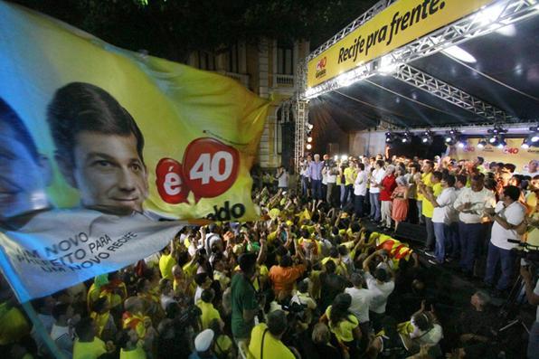 Geraldo Julio é reeleito prefeito do Recife.   Foto: Rafael Martins/ Esp. DP -