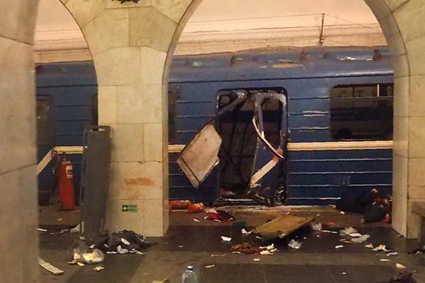 A explosão que deixou 11 mortos nesta segunda-feira no metrô de São Petersburgo, na Rússia,  foi classificada pelo Comitê de Investigação russo como um ''ato terrorista''. Foto: AFP PHOTO / STR / ALTERNATIVE CROP -