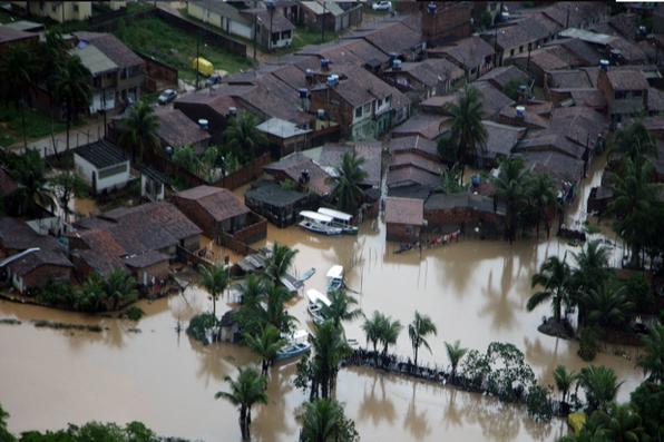 Imagem da cidade de Belém de Maria, uma das cidades que sofreram com as fortes chuvas no Estado de Pernambuco. Foto: Governo do Estado de Pernambuco.  -