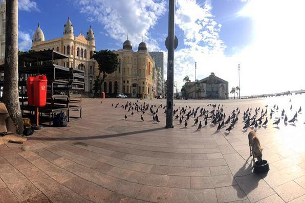 Praça do Marco Zero do Recife. Foto: Júlio Jacobina/ Diario de Pernambuco.  -