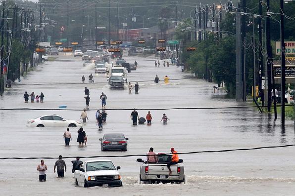Tempestade tropical Harvey deixou ao menos seis mortos e dezenas de feridos durante sua passagem, pelo estado do Texas, nos Estados Unidos. Foto: THOMAS B. SHEA / AFP.  -