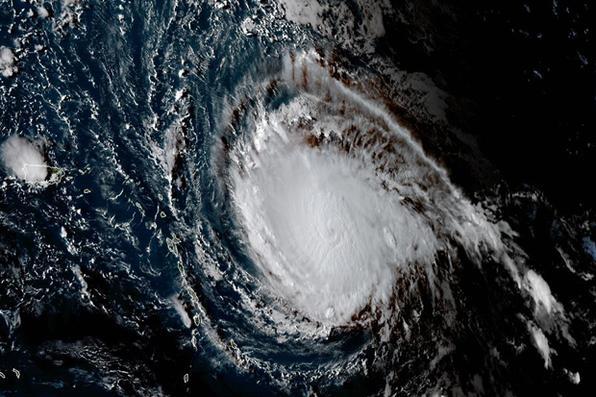 Irma se converteu em um furacão extremamente perigoso, de categoria 5, a máxima na escala, e se aproxima do Caribe, informou nesta terça-feira o Centro Nacional de Furacões (NHC) dos Estados Unidos. Foto:  AFP PHOTO / NOAA/RAMMB -