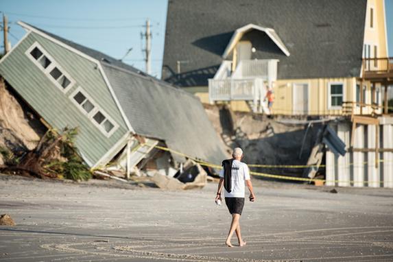 FOTOS DO DIA (Casa destruída pelo furacão Irma em Vilano Beach, Flórida. Foto: Sean Rayford / Getty Images / AFP)