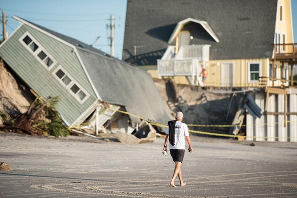 Casa destruída pelo furacão Irma em Vilano Beach, Flórida. Foto: Sean Rayford / Getty Images / AFP -