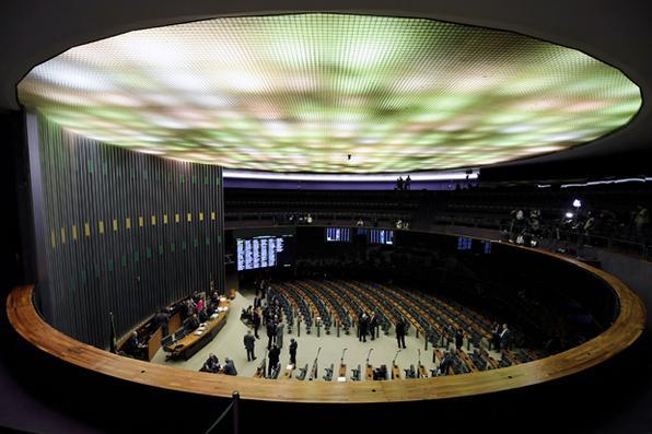 Plenário da Câmara aguarda quórum para dar início a votação de denúncia contra Temer. Foto:  AFP PHOTO / EVARISTO SA -