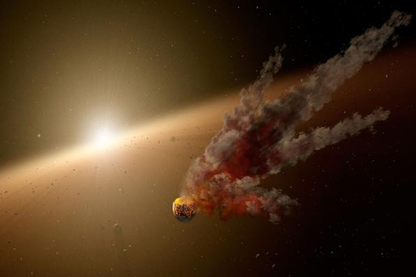 Esta imagem divulgada pela NASA obtida mostra uma ilustração do artista da estrela KIC 8462852. Tem sido chamado de ''estrela mais misteriosa no universo'', maior do que o sol e ainda assim, brilhar e escurecer de uma maneira estranha que sugeriu que alguma mega estrutura alienígena pudesse estar circulando.Foto: AFP PHOTO / NASA / JPL-CALTECH. -