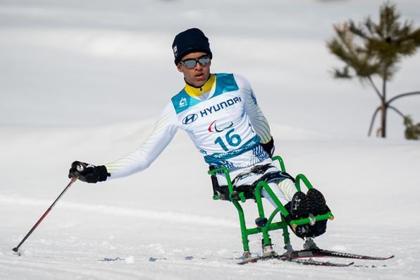 O brasileiro Cristian Ribera ficou na 6a colocação nos Jogos Paralímpicos de Inverno de Pyeongchang. Foto: AFP PHOTO / OIS/IOC / Bob MARTIN -