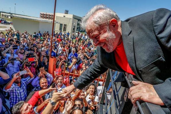 Ex presidente Luiz Inácio Lula da Silva durante caravana pelo sul do pais  visita a Unipampa, em Bagé, universidade criada por ele em 2005. Foto: Ricardo Stuckert/Fotos Públicas -