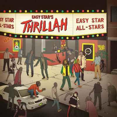 Capa do disco mostra lobisomens e rastafáris em frente a um cinema. Foto: Easy Star/ Divulgação