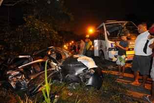 Daniel Guilherme Prazeres da Silva, de 4 meses, foi uma das vítimas da colisão envolvendo um micro-ônibus que fazia a linha 124-Muribeca Rua/Loreto, um caminhão e dois carros. Foto: Ricardo Fernandes/DP/D.A Press