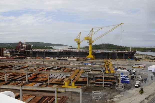 Relatório prevê para até 31 de outubro o lançamento ao mar do segundo navio do EAS, o Zumbi dos Palmares (Teresa Maia/DP/D.A Press)