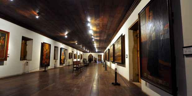 Museu Pinacoteca abriga 24 painíes dos séculos XVII e XVIII desde o final dos anos 50. Igreja da Sé quer metade dos quadros de volta. Foto: Blenda Souto Maior/DP/D.A Press