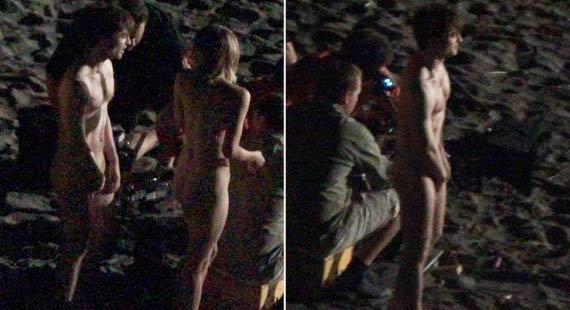 Ator brit�nico teve a nudez flagrada por fot�grafo amador (Reprodu��o/Thumblr.com)