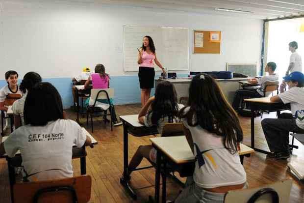 Aprovado limite de alunos por turmas do ensino público. Foto: Ed Alves/Esp. CB/D.A Press/Arquivo