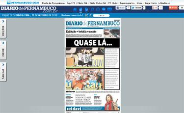 Nova versão flip do Diario de Pernambuco roda em qualquer plataforma, inclusive Android e IOS. (Reprodução)