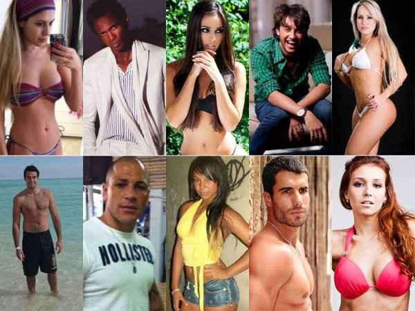 Na primeira linha: Bianca, Sacramento, Flávia, Haysam, Isis. Na linha debaixo: Rodrigo Carril, Rodrigo Simões, Karine, Dan, Claudia (Foto: Record / Divulgação)