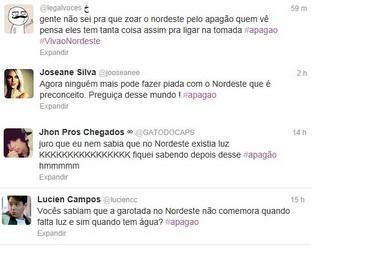 Muitos internautas usaram o microblog para ofender os nordestinos com frases preconceituosas (Reprodução)