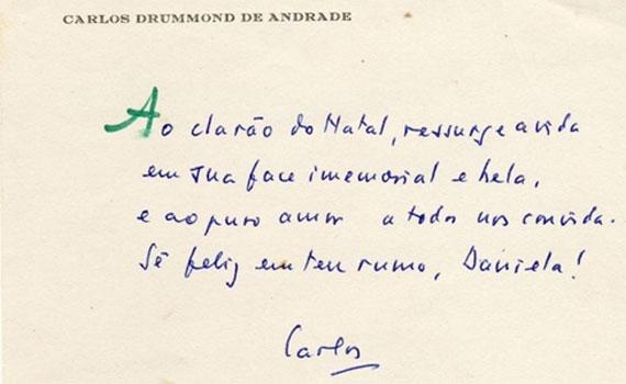 Cartas são relíquias do poeta reunidas em acervo. Crédito: Divulgação