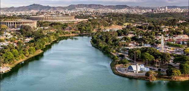 Vista aérea da Pampulha: decisão da Unesco só deve sair em 2015. Foto: Alberto Andrich/EM/D.A. Press