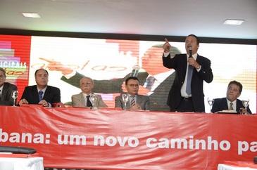 Presidente nacional do PSB, o governador falou para prefeitos eleitos pelo partido (Humberto Pradera/ PSB/ Divulgação)