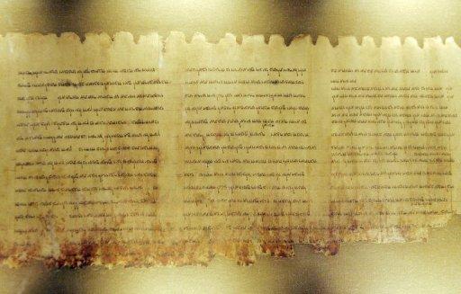 Parte dos manuscritos do Mar Morto, que agora poderão ser consultados online. Foto: DDP/AFP Michael Kappeler