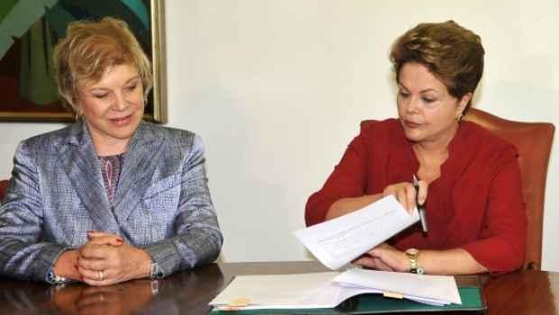 Dilma e Marta participaram da solenidade. Crédito: Agência Brasil