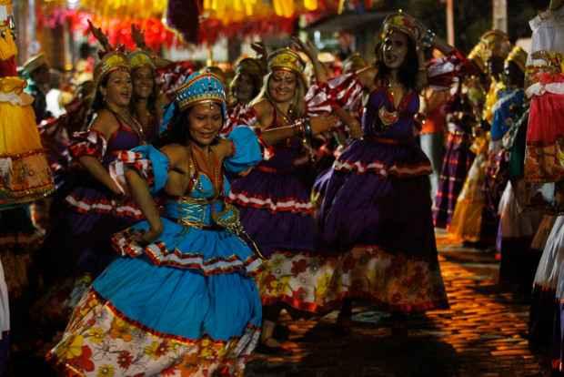 Maracatu A Cabra Alada também participou do encontro. Foto: Ricardo Fernandes/DP/D.A Press