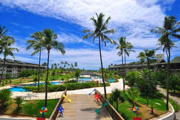 O parque aquático do Beach Class Resort Muro Alto é um dos maiores do Brasil. Foto: Júlio Jacobina/DP/D.A Press