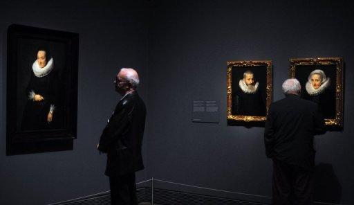 Quadro guardado no depósito de um museu britânico foi identificado graças foto exposta em um site  (© AFP/File Dominique Faget )