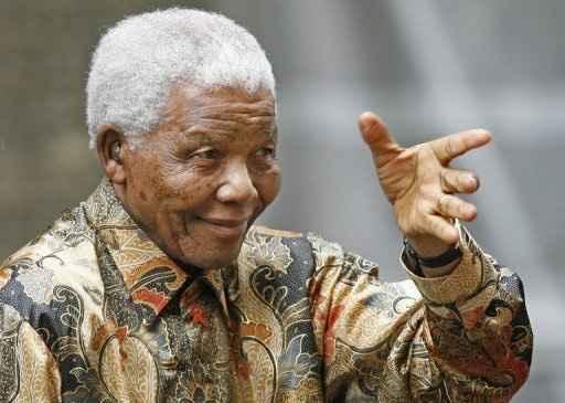 Nelson Mandela em Londres no dia 28 de agosto de 2007. Foto: © AFP/Arquivo Leon Neal