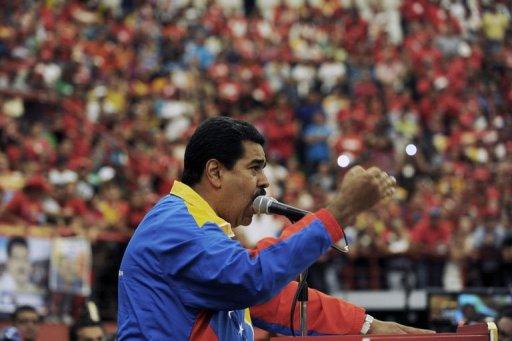 Maduro discursa no estado de Barinas. Foto: AFP Photo/Juan Barreto