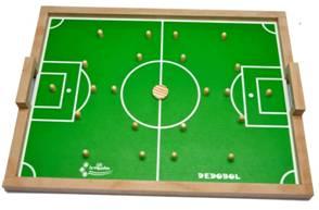 Versão moderna do futebol de botão depende apenas do talento de seus jogadores para vencer uma partida. (www.toysefun.com.br )