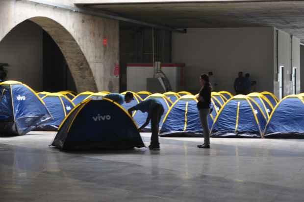 (Oitocentos campuseiros vão ficar instalados no acampamento durante todo o evento. Foto: Júlio Jacobina/DP/D.A Press)