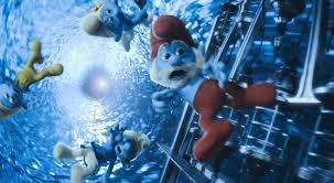 Smurfs Desastrado, Ranzinza, Vaidoso e o Papai Smurf terão de resgatar Smurfette, a única mulher do grupo (www.smurfhappens.com)