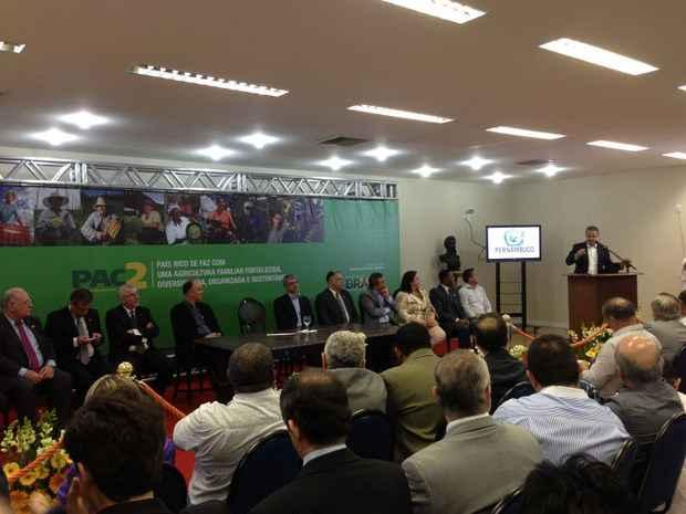 Ao todo, foram anunciados investimentos de R$ 7 bilhões para o fortalecimento da agricultura familiar e de médio porte em todo o país. Foto: Augusto Freitas/DP/D.A. Press
